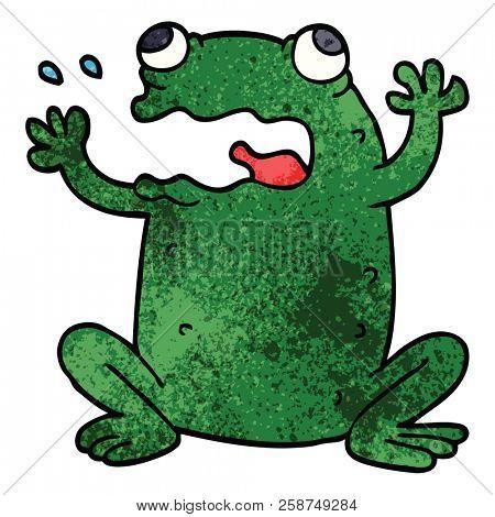 cartoon doodle burping toad poster