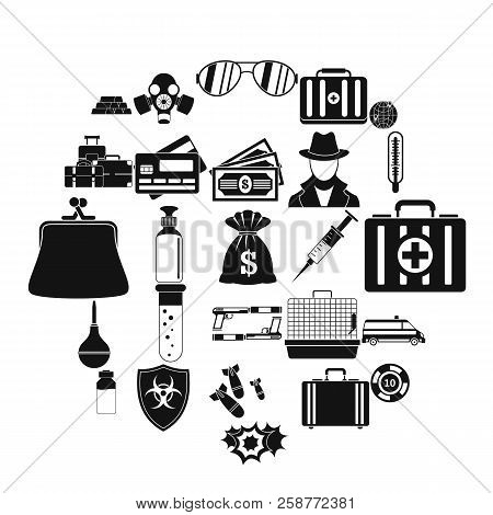 Investigation Icons Set. Simple Set Of 25 Investigation Vector Icons For Web Isolated On White Backg