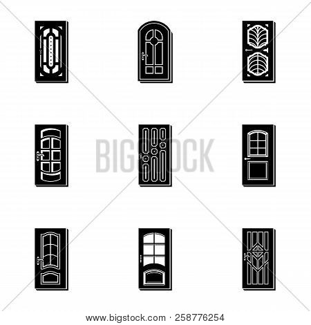 Doorway Icons Set. Simple Set Of 9 Doorway Vector Icons For Web Isolated On White Background