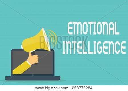 Handwriting Text Emotional Intelligence. Concept Meaning Self And Social Awareness Handle Relationsh