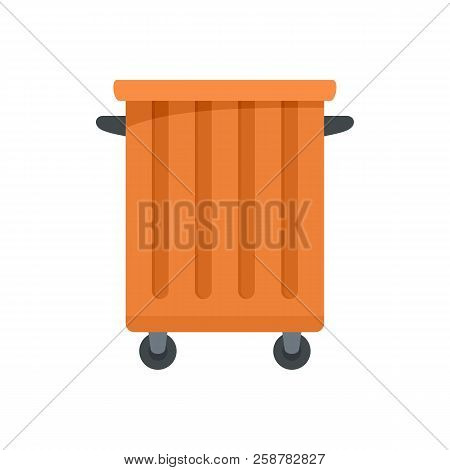 Commercial Trash Container Icon. Flat Illustration Of Commercial Trash Container Vector Icon For Web