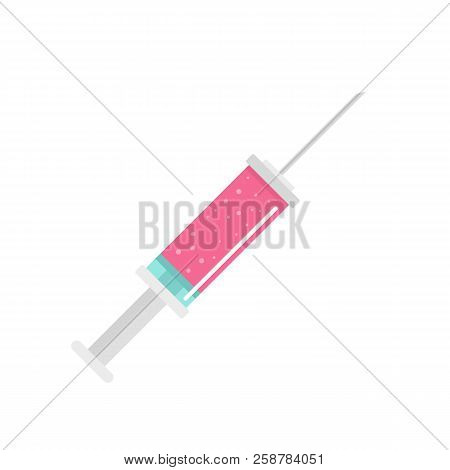 Contraceptive Injection Icon. Flat Illustration Of Contraceptive Injection Vector Icon For Web Desig