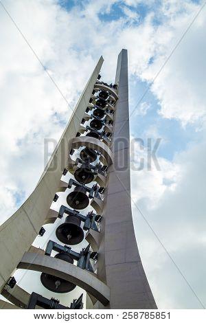Aparecida, Sao Paulo, Brasil - 15/09/2018: Santuario Nacional De Nossa Senhora Aparecida