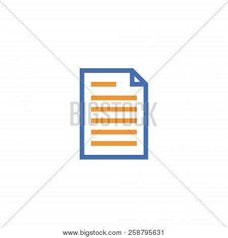 Document Paper Outline Icon. Isolated Note Paper Icon In Thin Line Style For Graphic And Web Design.