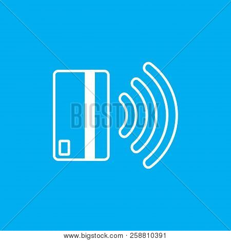 Contactless Payment Icon. Near-field Communication Nfc Card Technology Concept Icon. Tap To Pay. Vec