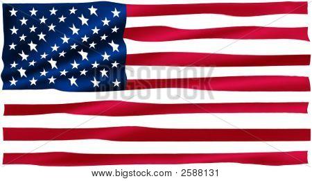 Large Rippled American Flag