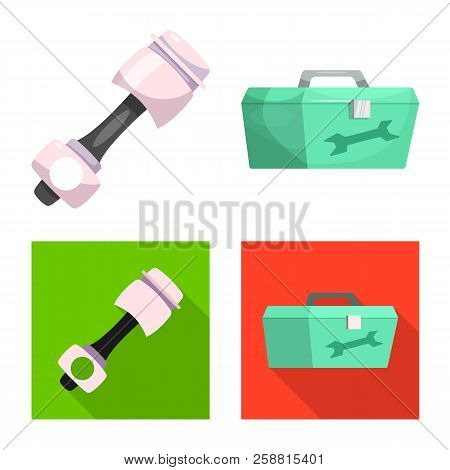 Vector Illustration Of Car And Rally Icon. Collection Of Car And Race Stock Vector Illustration.