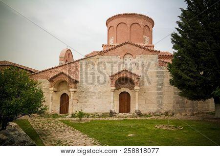 Exterior View To Church Of Saint Mary In Apollonia Near Fier, Albania