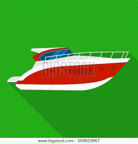 Room Boat Icon. Flat Illustration Of Room Boat Icon For Web Design