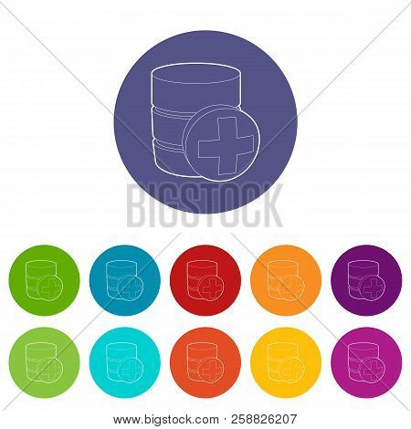 Diagnosis Database Icon. Outline Illustration Of Diagnosis Database Icon For Web