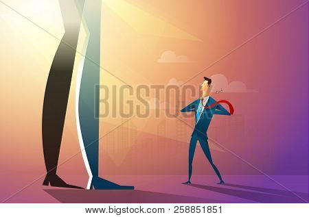 Illustration Of A Confident Businessman Ripping His Shirt And Turning Into A Superhero Fighting With