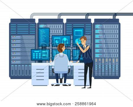 Server Room, Equipping Network Administrator's Workplace, Monitoring Database.