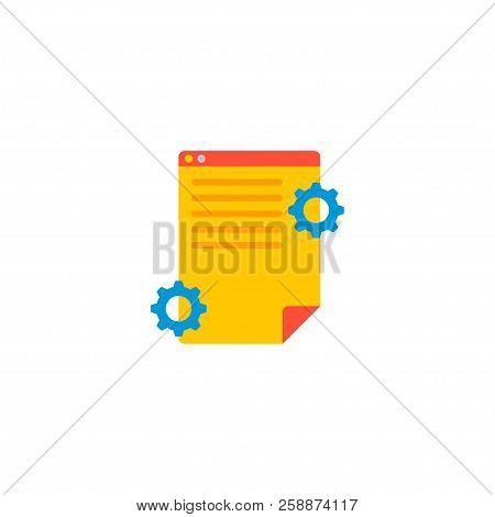 Project Brief Icon Flat Element. Vector Illustration Of Project Brief Icon Flat Isolated On Clean Ba