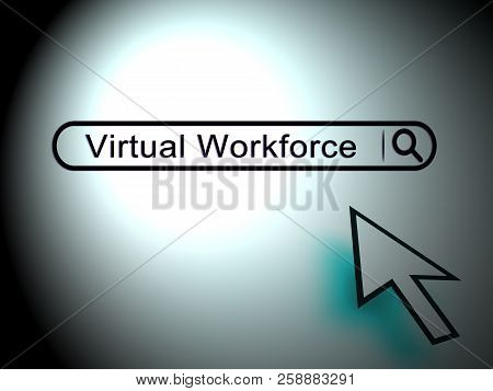 Virtual Workforce Offshore Employee Hiring 2D Illustration