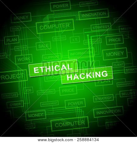 Ethical Hacking Data Breach Tracking 2D Illustration