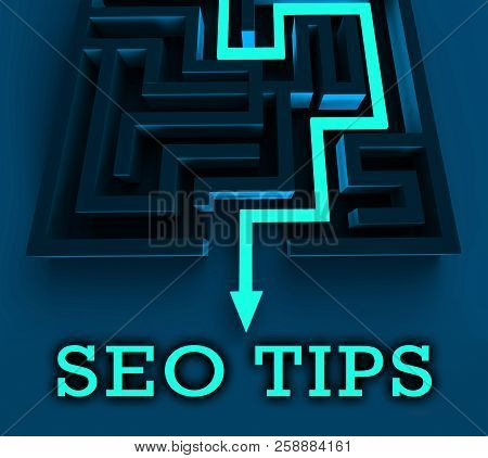 Seo Tips Online Ranking Advice 3D Rendering