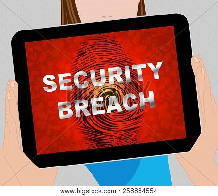 Cyber Security Breach System Hack 3D Illustration