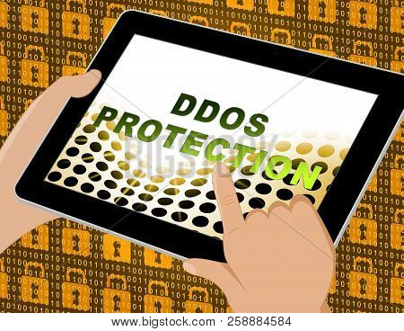 Ddos Protection Denial Of Service Security 3D Illustration