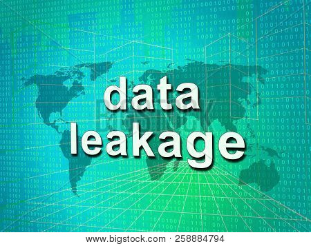 Data Leakage Information Flow Loss 3D Illustration