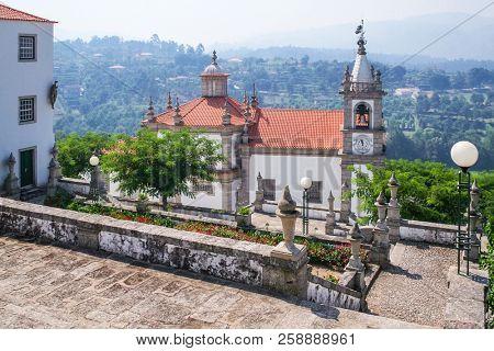 Our lady of Porto De Ave baroque sanctuary in Povoa de Lanhoso, Portugal. poster