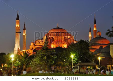 Hagia Sofia of Istanbul at Night