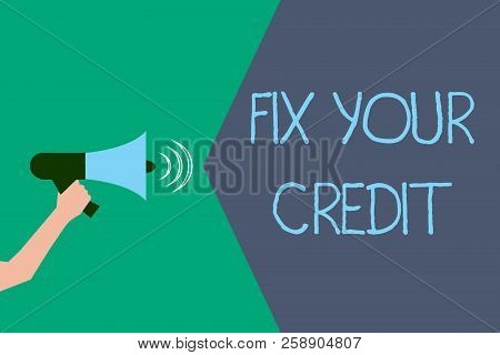 Writing Note Showing Fix Your Credit. Business Photo Showcasing Keep Balances Low On Credit Cards An