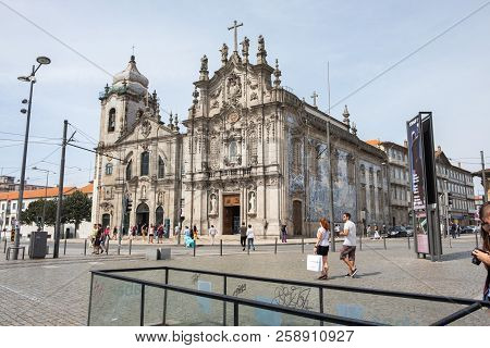 Porto, Portugal - September 16, 2018 :the Carmo Church Or Church Of The Venerable Third Order Of Our