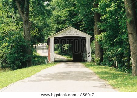 This is one of many covered bridges in