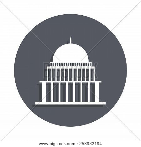 White House, Congress Capitoly Building Icon In Badge Style. One Of Buildings Collection Icon Can Be