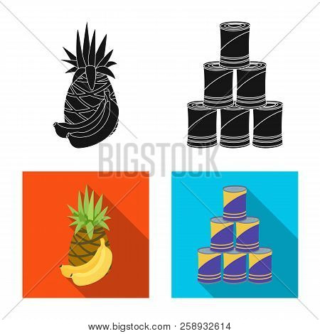 Isolated Object Of Food And Drink Logo. Collection Of Food And Store Stock Symbol For Web.