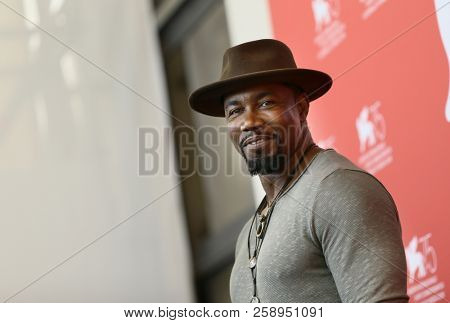 Michael Jai White attends 'Dragged Across Concrete' photocall during the 75th Venice Film Festival at Sala Casino on September 3, 2018 in Venice, Italy.