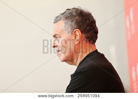 Amos Gitai attends 'A Letter To A Friend In Gaza And Tramway In Jerusalem' photocall during the 75th Venice Film Festival at Sala Casino on September 3, 2018 in Venice, Italy.