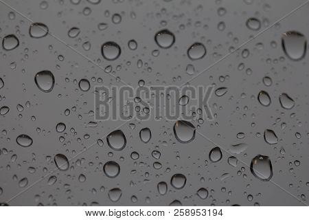 Rain Drops On A Windowpane. Rain Drops On A Windowpane