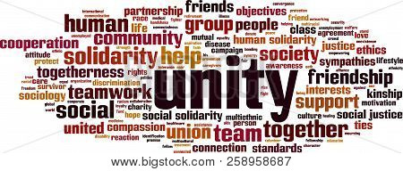 Unity Word Cloud Concept. Vector Illustration On White