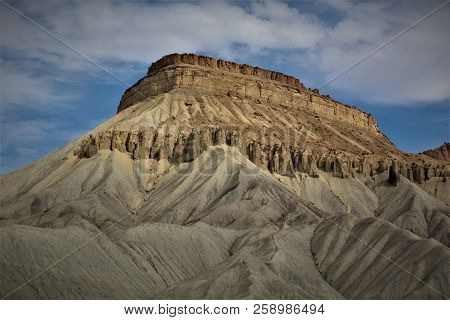 Mount Garfield In Grand Junction Colorado Looming In The Background.