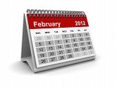 Simple Calendar 2012 Concept. Isolated on white Background with Shadows. poster