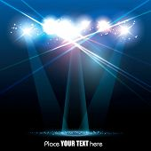 Vector Stage Spotlight with Laser rays poster