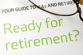 Getting ready for retirement concept of financial planning poster