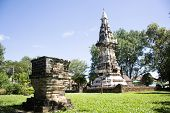 Phra That Kong Khao Noi is an ancient stupa or Chedi, a structure that enshrines holy Buddhist relics. Built during the 18th-20th century in Yasothon, Thailand for thai people and travelers visited poster