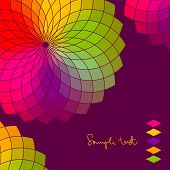Abstract background with color flower vector wheel poster