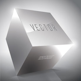 Vector Abstract Cube for Your Text