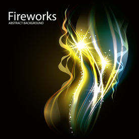 Abstract Vector Fireworks