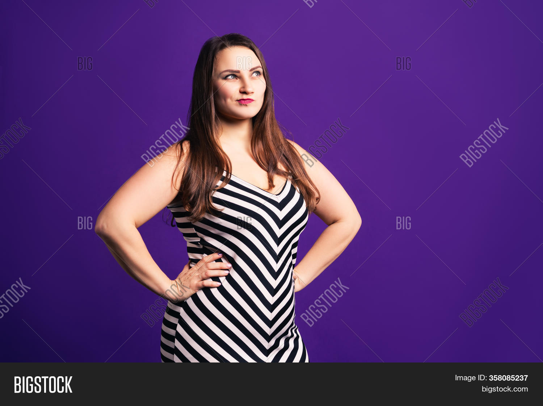 Pensive Plus Size Image Photo Free Trial Bigstock