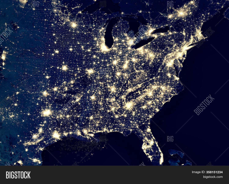 Earth Night View City Image Photo Free Trial Bigstock