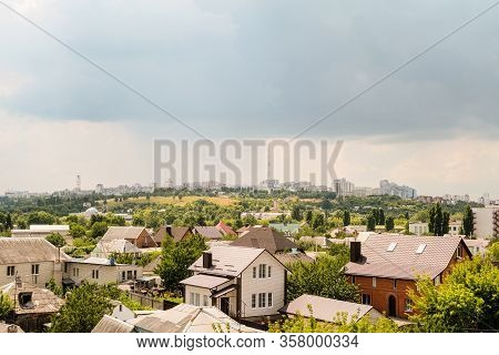 View Of The Southern Residential Area Kharkovskaya Gora And Tv Tower From The Side Eastern Industria