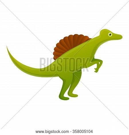 Spinosaurus Icon. Cartoon Of Spinosaurus Vector Icon For Web Design Isolated On White Background
