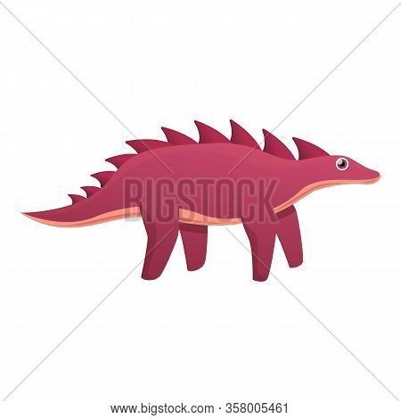 Tail Dinosaur Icon. Cartoon Of Tail Dinosaur Vector Icon For Web Design Isolated On White Background