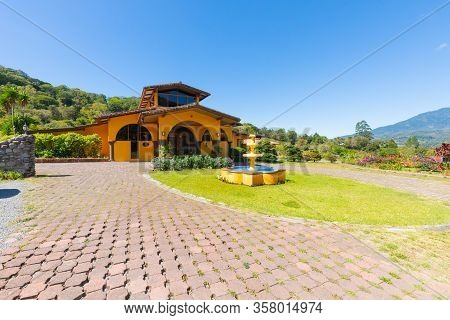 Orosi Costa Rica March 17 Mountain Lodge With Garden And Fountain Sited In The Hills Of Orosi Villag