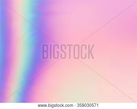 Hologram Effect Glitch Gradient Vector Design. Abstract Iridescent Mermaid Background. Liquid Colors