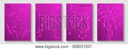 Fashionable Dj Party Posters. Rounded Curve Lines Blockchain Backgrounds. Subtle Banner Vector Layou